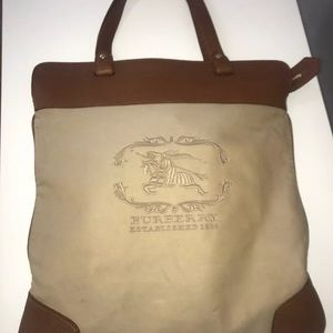 Vintage Burberry Est. 1856 Tan Leather Handbag